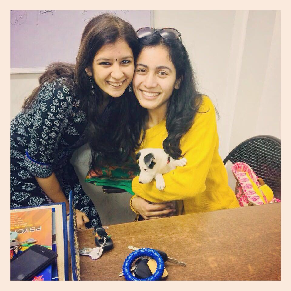 Me with DIvya, my team member