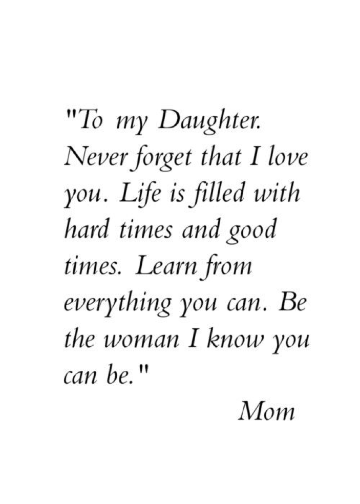 mother quotes from daughter inspirational
